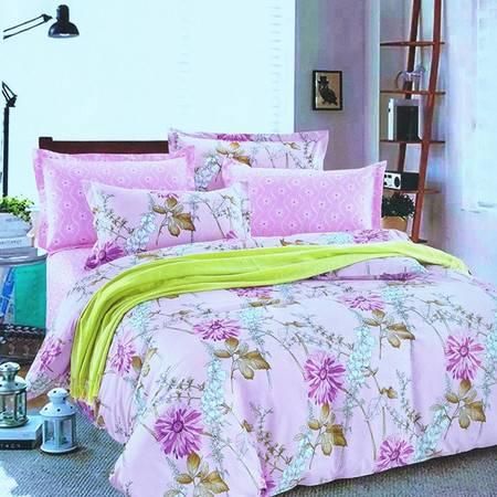 生活秀家纺 全棉被套床单简约1.5m1.8m床上用品春秋夏特 价四件套