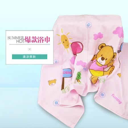 棉之爱纱布浴巾60*120cm 颜色随机 全棉毛巾被浴巾 柔软透气超吸水