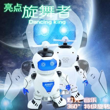 益尔乐亮点炫舞王(360º特技旋转)炫舞机器人太空电动儿童玩具11006