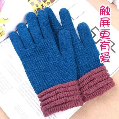 【邮乐新乡馆】女士触屏针织手套 冬季触摸屏针织毛线手套保暖全指