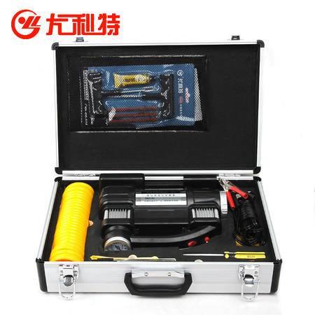 尤利特3302A铝盒工具版 车载充气泵双缸高压电动12V 汽车用充气泵