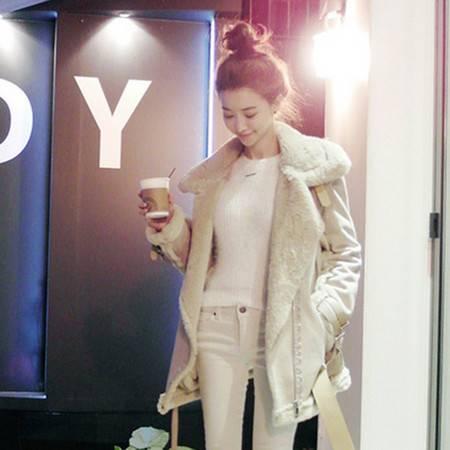 JEANE-SUNP2016新款秋冬装 韩国鹿皮绒棉服 时尚保暖潮流