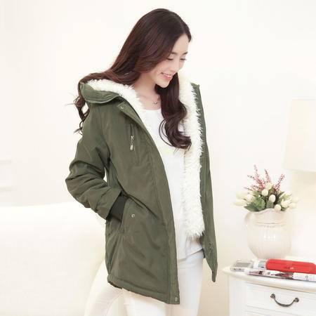 JEANE-SUNP2016秋装新款女装韩版修身显瘦气质百搭时尚长袖纯色小棉袄