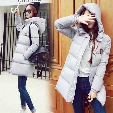JEANE-SUNP冬季新款韩版时尚中长款棉服加大码修身加厚保暖女神范棉衣棉袄女