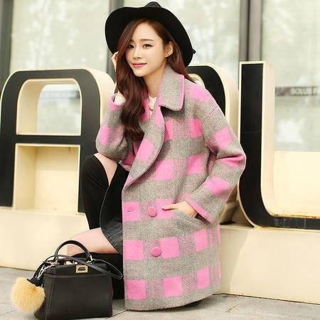 JEANE-SUNP2016新款秋冬装女士中长款毛呢外套冬季加棉加厚羊绒呢子大衣韩范