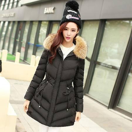 JEANE-SUNP2016冬季新款韩版修身棉衣女中长款加厚袄子羽绒棉服冬装外套潮