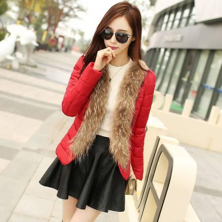 JEANE-SUNP2016冬季新款韩版修身棉袄女短款加厚棉衣韩国羽绒棉服冬装外套潮