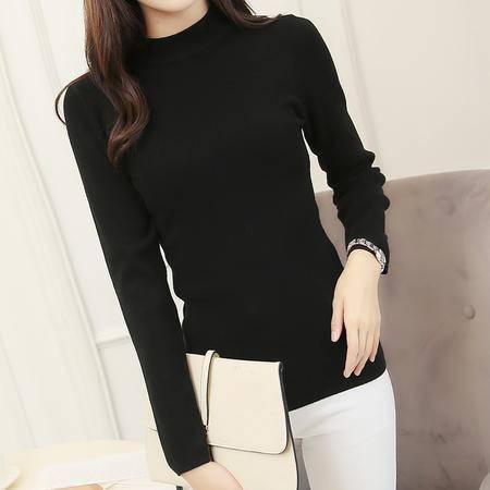 JEANE-SUNP2016冬季新款打底衫韩版时尚修身显瘦百搭毛针织衫圆领长袖毛衣女