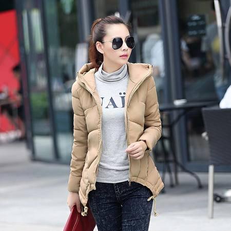 JEANE-SUNP2016冬装新款女装韩版修身显瘦棉服女中长款大码加厚棉衣外套棉袄