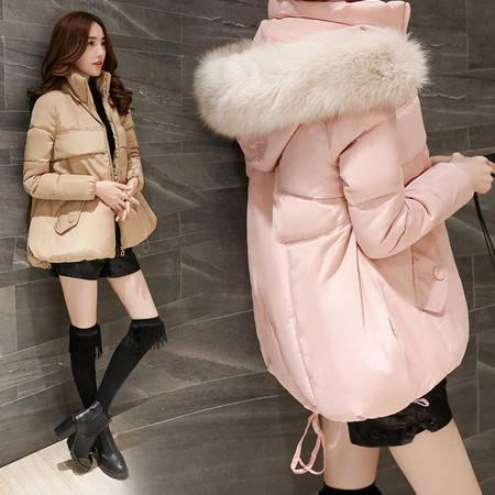 JEANE-SUNP2016韩版女款棉衣女士袄子冬外套潮女 a字斗篷棉服韩国面包服