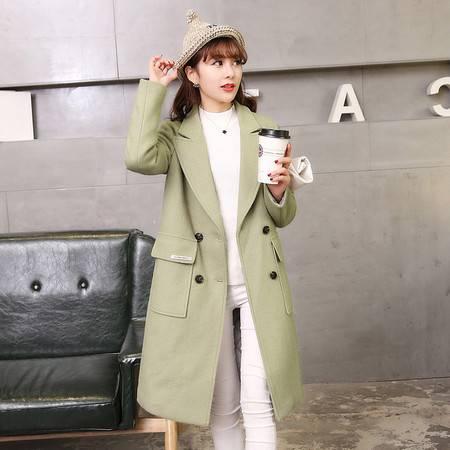 JEANE-SUNP2016早春秋冬新款韩版潮羊毛呢外套女中长款修身加厚韩国呢子大衣