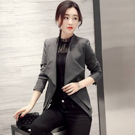 JEANE-SUNP2016春女装新款韩版修身显瘦女式短款风衣气质显瘦短款外套春季潮