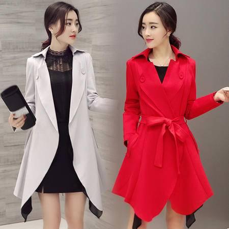 JEANE-SUNP2016女士春装时尚风衣外套中长薄款韩版收腰显瘦英伦百搭长袖新品