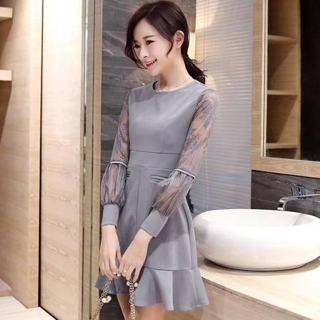 JEANE-SUNP2016春装新品连衣裙修身韩版性感显瘦大码鱼尾裙时尚甜美公主裙女