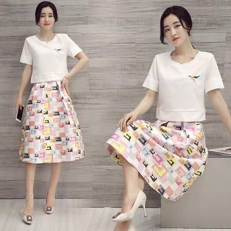 JEANE-SUNP2016韩国夏装两件套上衣短裤裙夏天学生显瘦女装时尚气质套装潮流