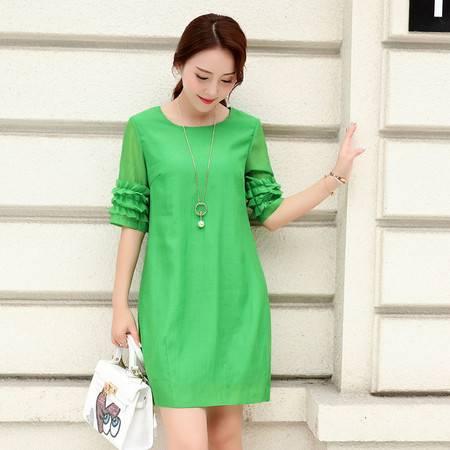 JEANE-SUNP2016夏季中长裙新款通勤女装单件A字裙韩版连衣裙