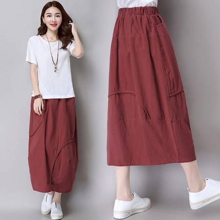 JEANE-SUNP2016夏季新款韩版高腰单排扣牛仔半身裙女修身显瘦A字裙短裙