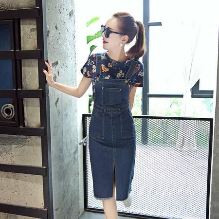 JEANE-SUNP2016夏季新款中长裙女装通勤纯色韩版单件夏装修身常规淑女连衣裙