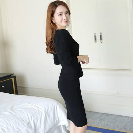 JEANE-SUNP2016年秋季韩款时尚潮流优雅纯色套装套裙