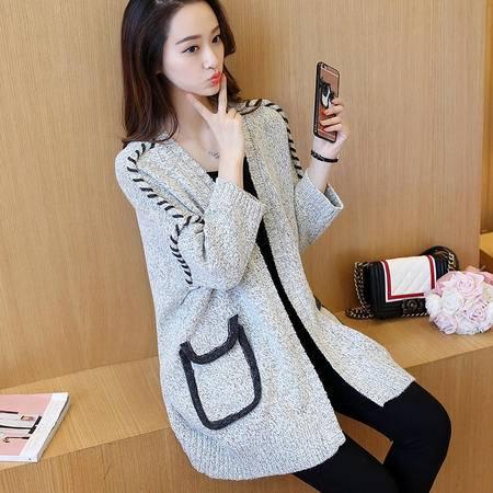 JEANE-SUNP 2016秋季长袖新款套头韩版通勤直筒针织衫常规宽松女毛衣