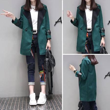 JEANE-SUNP 2016年秋季长袖中长款纯色显瘦气质韩版短外套