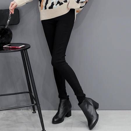JEANE-SUNP 2016秋冬韩版铅笔裤打底裤外穿薄款修身九分女裤子黑色小脚长裤