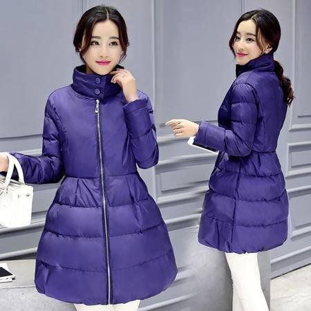 JEANE-SUNP 2016年冬季简约时尚立领长袖拉链门禁优雅棉衣