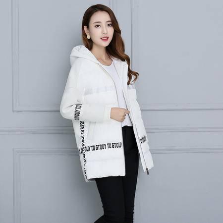 JEANE-SUNP 2016年冬季修身加厚长袖连帽时尚简约棉衣