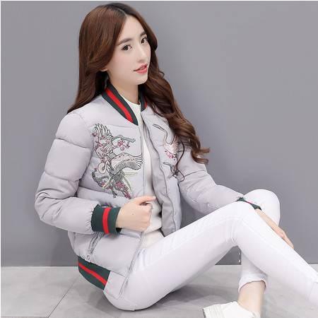 JEANE-SUNP 2016冬装新款女装韩版修身轻薄羽绒棉棉衣女棉服短款外套