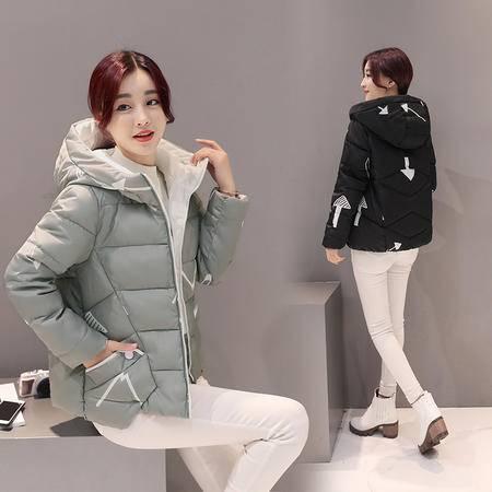 JEANE-SUNP 2016冬装韩版新款女士短款棉服修身学生连帽小棉袄大码棉衣外套潮