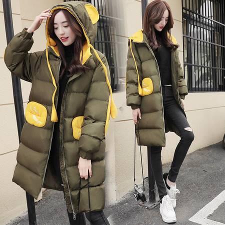 JEANE-SUNP 2016冬季新款韩版棉衣女装中长款棉服学院风韩国棉袄面包服外套女