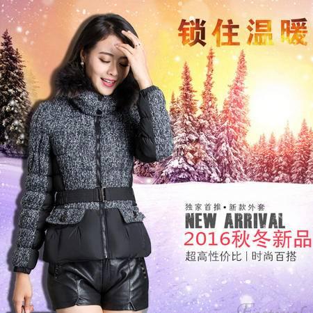 JEANE-SUNP 冬季长袖修身时尚宽松棉衣拉链连帽通勤韩版棉服