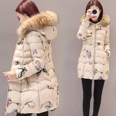 JEANE-SUNP 2016年冬季甜美时尚潮流拉链加厚长袖棉服