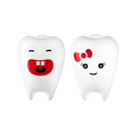 Flipper专利设计牙刷架牙齿宝宝系列 白白牙2只装马来西亚原装进口