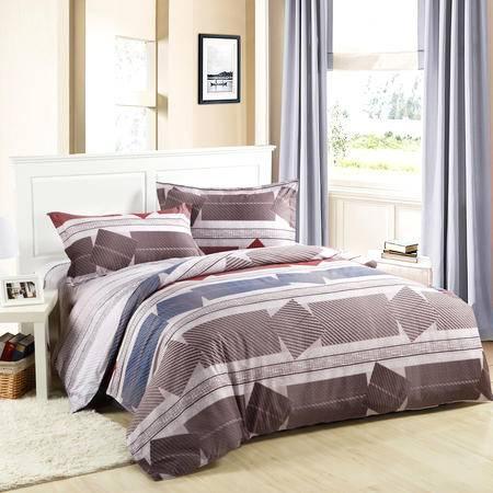 CloverLove全棉床单枕套被套4件套1.5/1.8床上用品-盈盈秋水包邮