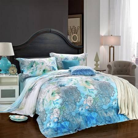 CloverLove床上用品高密优质天丝四件套梦的畅想1.5/1.8米床包邮