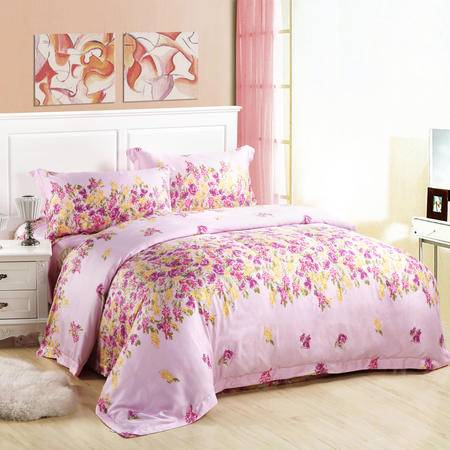 Cloverlove床上用品优质莫代尔活性印染AB版四件套床单式花漫包邮