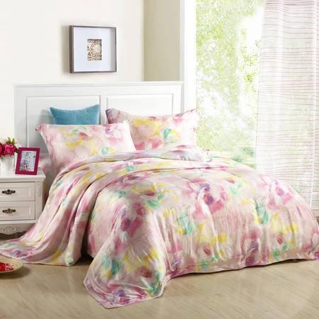 Cloverlove床上用品优质莫代尔活性印染AB版四件套-梦境花海包邮