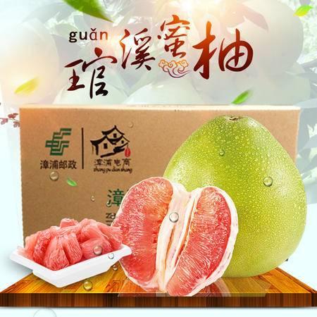 【世界柚乡平和琯溪红肉蜜柚】红心蜜柚红心柚子产地直供现货 2颗共约5斤装 包邮