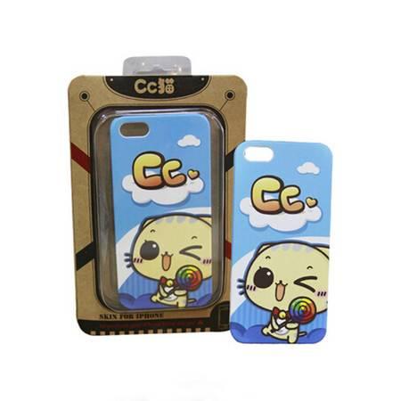 可爱CC猫 iPhone5 专用手机壳 (蓝色)