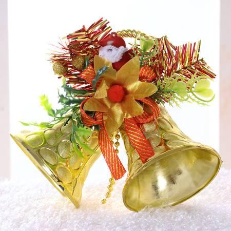 6套装 圣诞装饰品 圣诞双铃铛挂饰 儿童礼物 两只铃铛