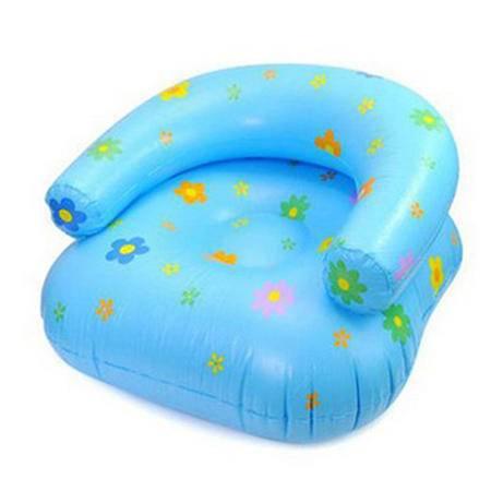 加厚印花儿童充气沙发 充气坐椅 颜色随机