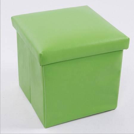 红兔子 PU皮收纳凳 储物凳 换鞋凳 收纳箱 绿色