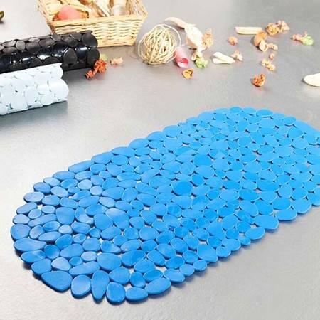 红兔子 浴室卵石PVC吸盘式防滑垫地垫 颜色随机