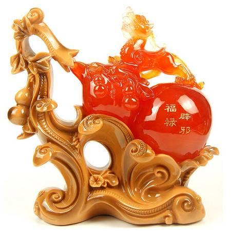 大号招财辟邪玉貔貅树脂工艺品 家居办公摆件 商务送礼品 红葫芦