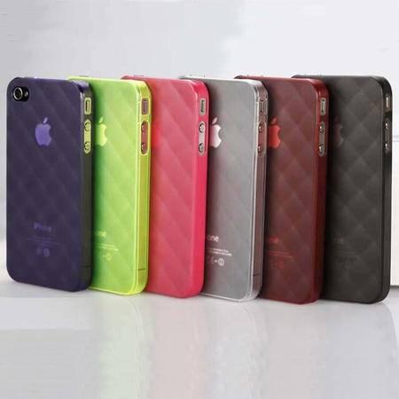 V2ROCK唯图诺克菱格iphone4/4S苹果手机套保护壳清水套 颜色随机