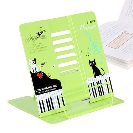 学生防近视多功能可调节护目阅读架/看书架--黑色小猫