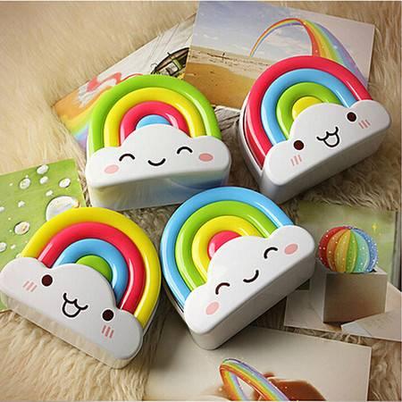 创意彩虹小夜灯 节能安睡灯婴儿童房床头灯 led声控灯 电池夜光灯 一只装