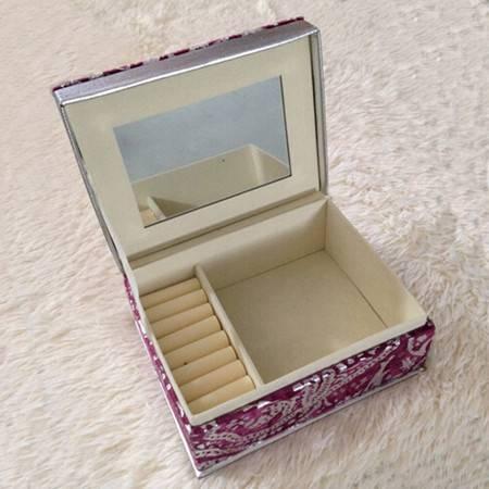 高档拱形绒布盒 紫色戒指项链手链手镯套装盒子 珠宝首饰绒布盒子