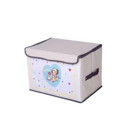 友纳 牛津布卡通系列印花卡通收纳箱 儿童玩具卡通收纳盒 收纳箱(爱心女孩)